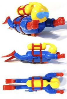 Super Scuba Man Plastic Wind Up