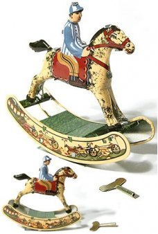 Rocking Horse Wind Up Tin Toy