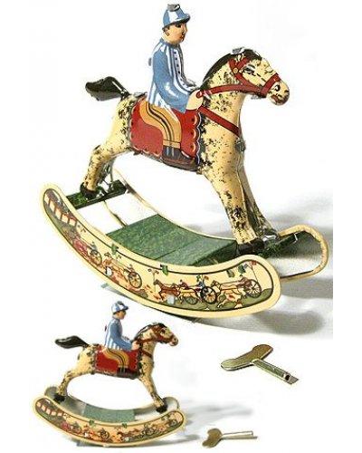 Rocking Horse Wind Up Tin Toy