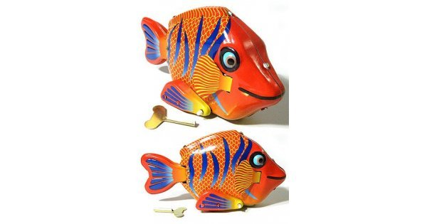 Felicia The Friendly Large Fish Classic Tin Toy Wind Up