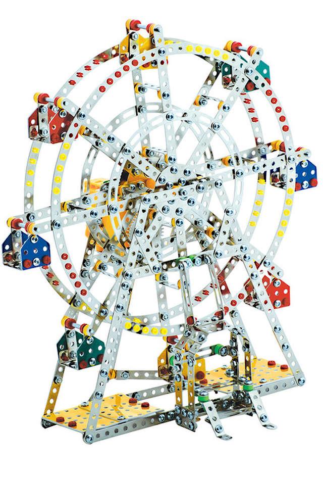 Ferris Wheel Musical Large Construction Set Steel Works Schyling