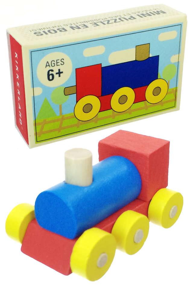 Matchbox Train Puzzle Wooden : Mini Set