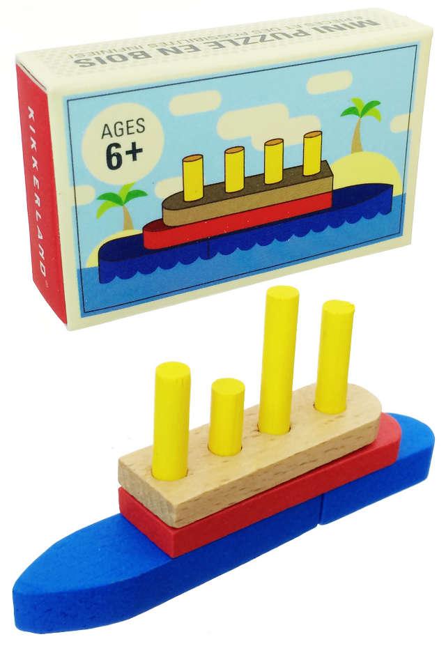 Matchbox Ship Puzzle Toys Wooden : Mini Play Set