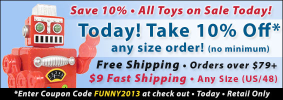 Save 10 Percent Today Coupon FUNNY2013